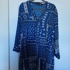 Zara Blue/white dress